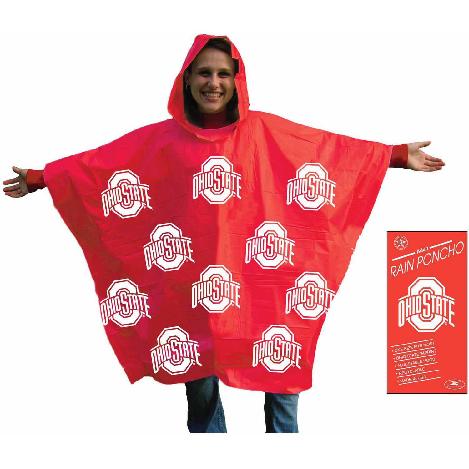 NCAA Ohio State Stadium Poncho
