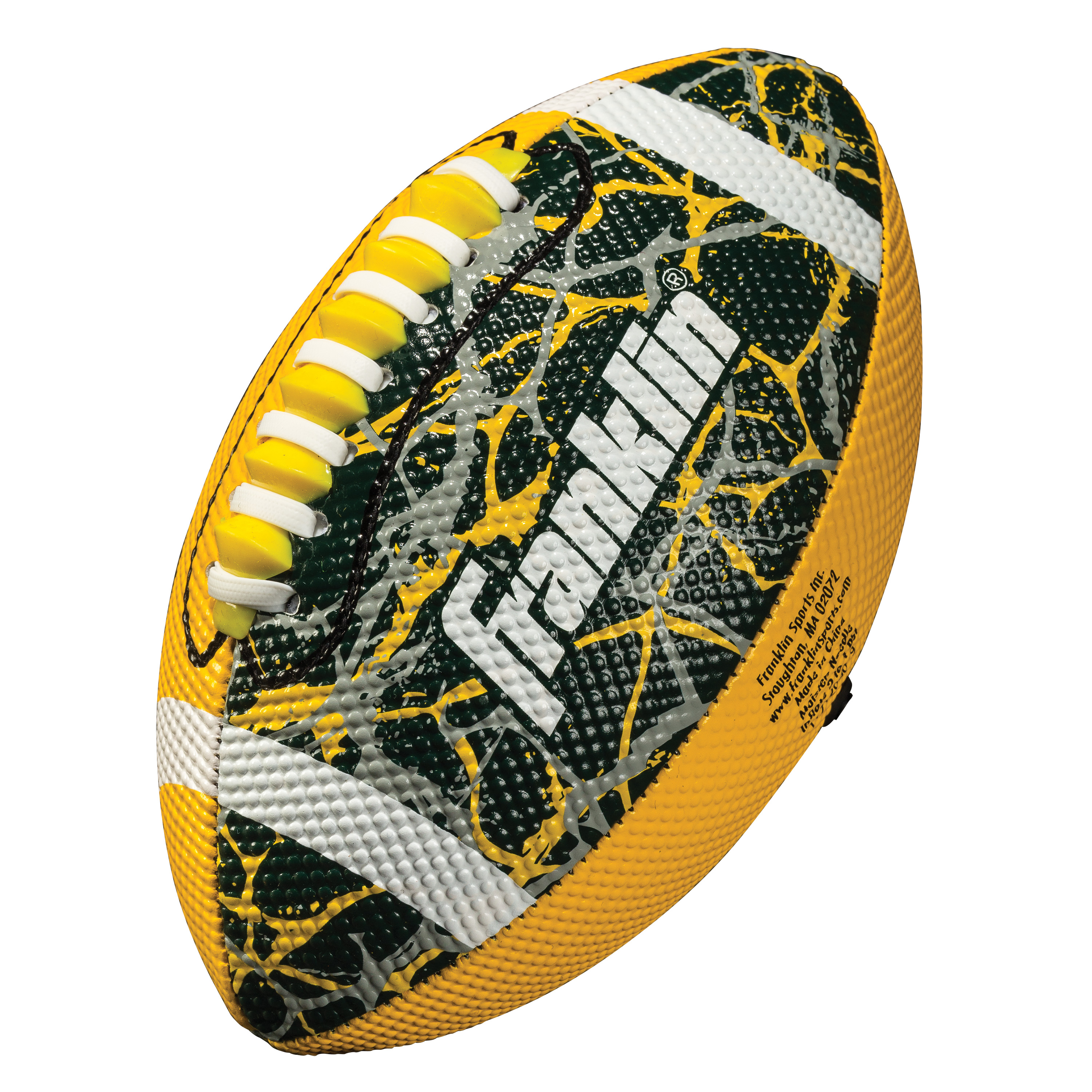 Franklin Sports Team Color Mini Football - Yellow/Green