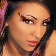 Exotica Xotic Eyes Pink Eye Glitter Jewels Professional Eye Make Up