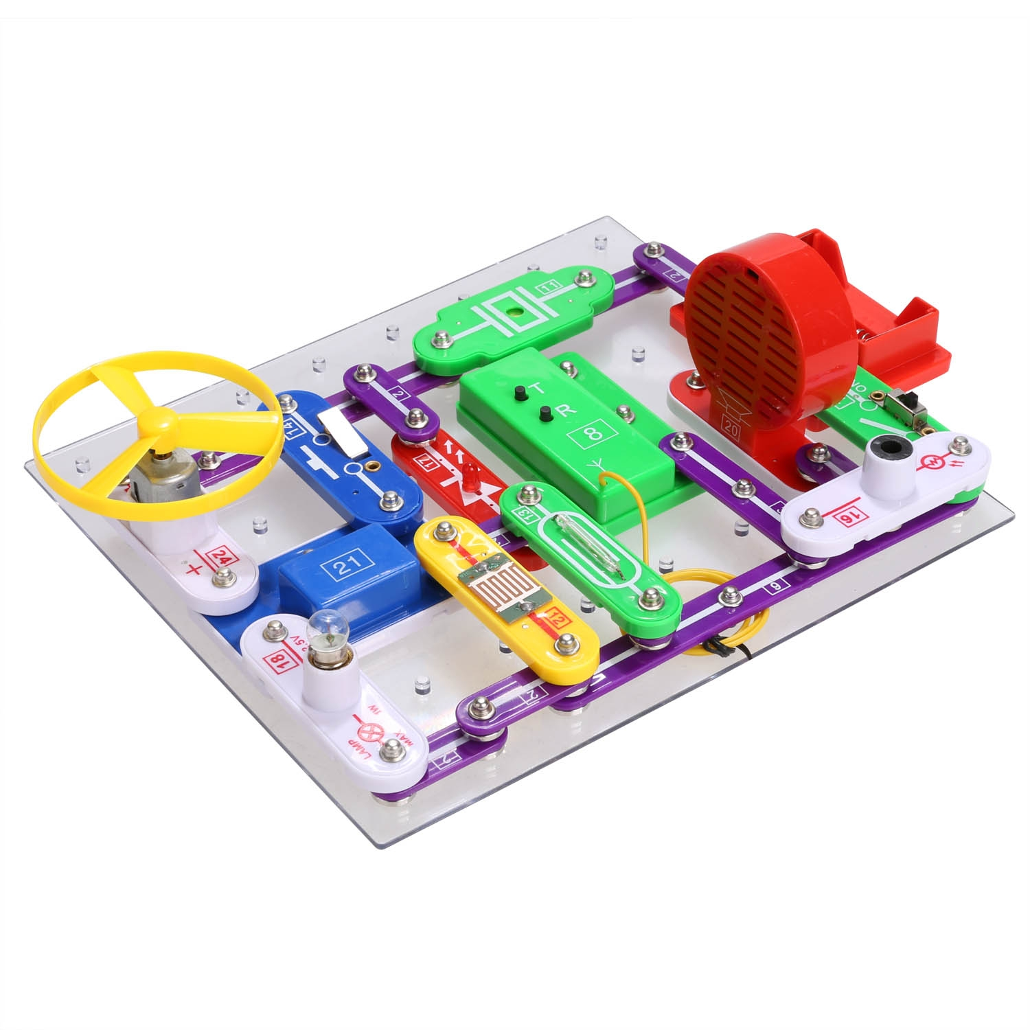 Elenco Snap Circuits Lights Electronics Discovery Kit Wiring Kamisco Pro Curcuits