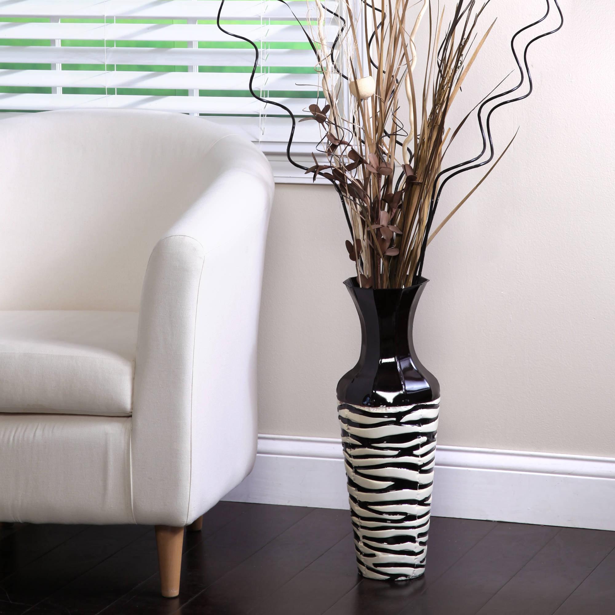 Elegant Zebra Metal Expressions Stripe Vase 20