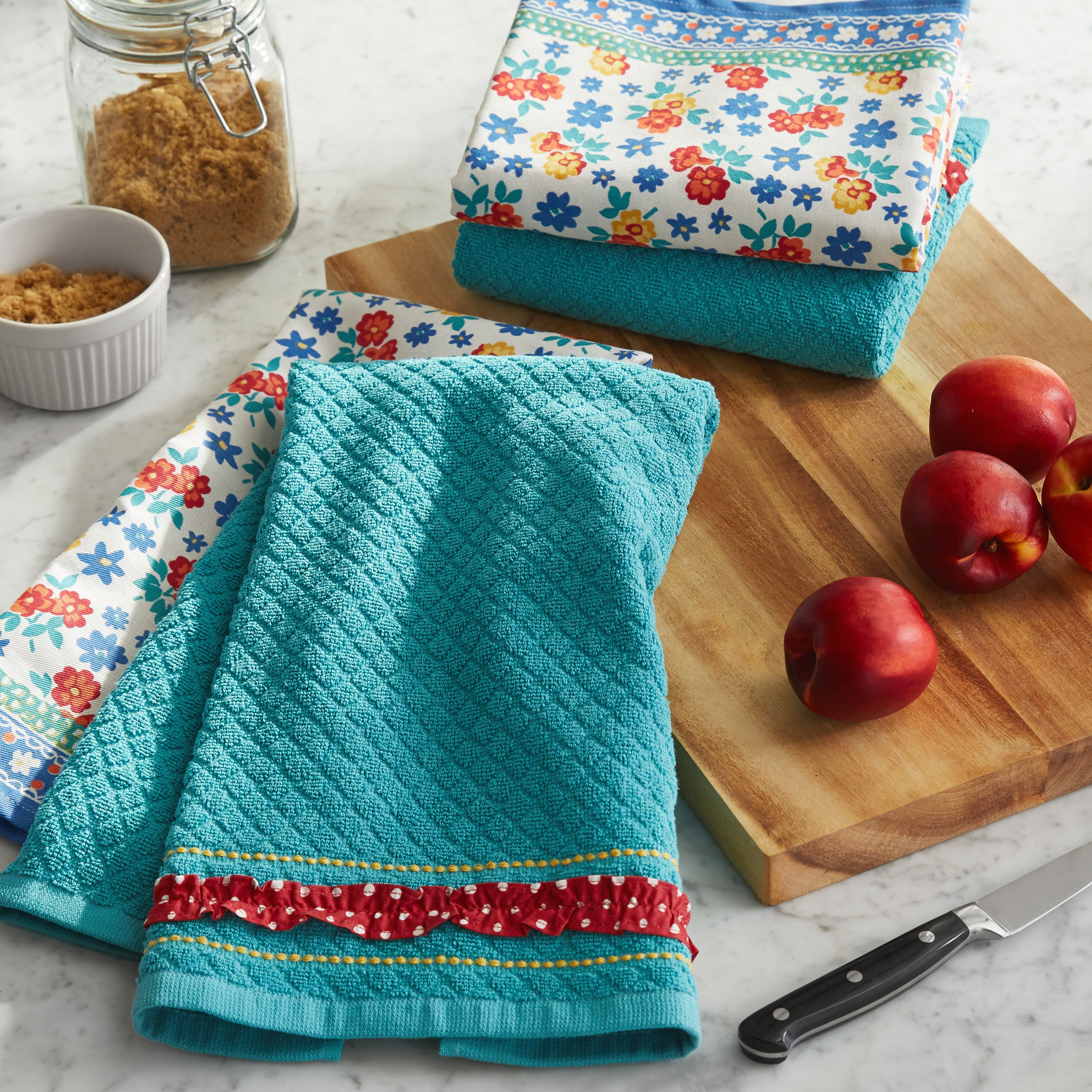 The Pioneer Woman Mini Floral Kitchen Towels, Set of 4