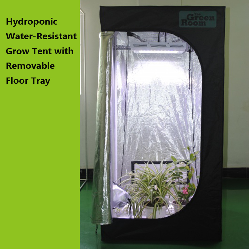 Hydroponic Water-Resistant Grow Tent Removable Floor Tray Indoor Seedling Plant