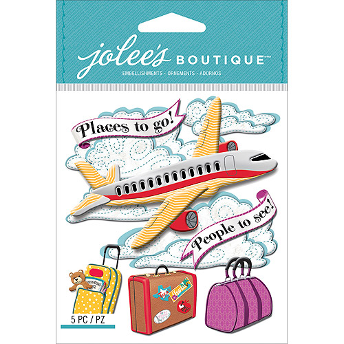 Jolee's Boutique Dimensional Stickers, Airplane