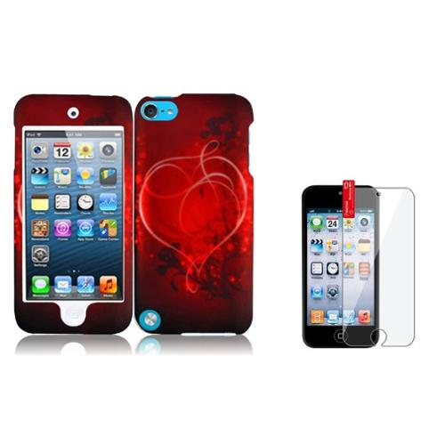 Insten Heart On Stars Hard Case Cover Skin For iPod Touch 6 6G 6th / 5 5G 5th Gen LCD Protector