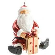 Metallic Red Santa Christmas Candle