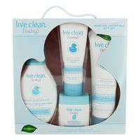 Live Clean Baby Gentle Moisture Skincare Essentials Gift Set, 4-Piece