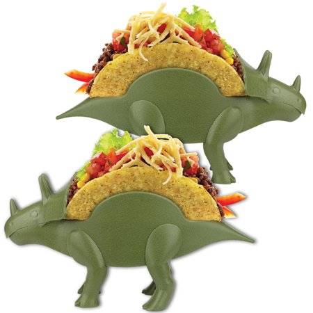Disposable Taco Holder (Tricerataco Double-Slotted Dinosaur Taco Holders (Set of Two) Fun)