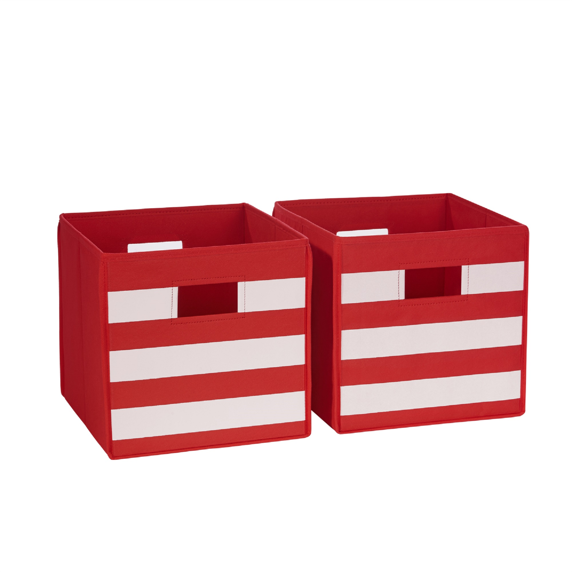 Foldable Cloth Storage Cube Basket Bins Organizer Containers Drawers Adorn Home Essentials DUAL HANDLE by ADORN Brown 3 Pack