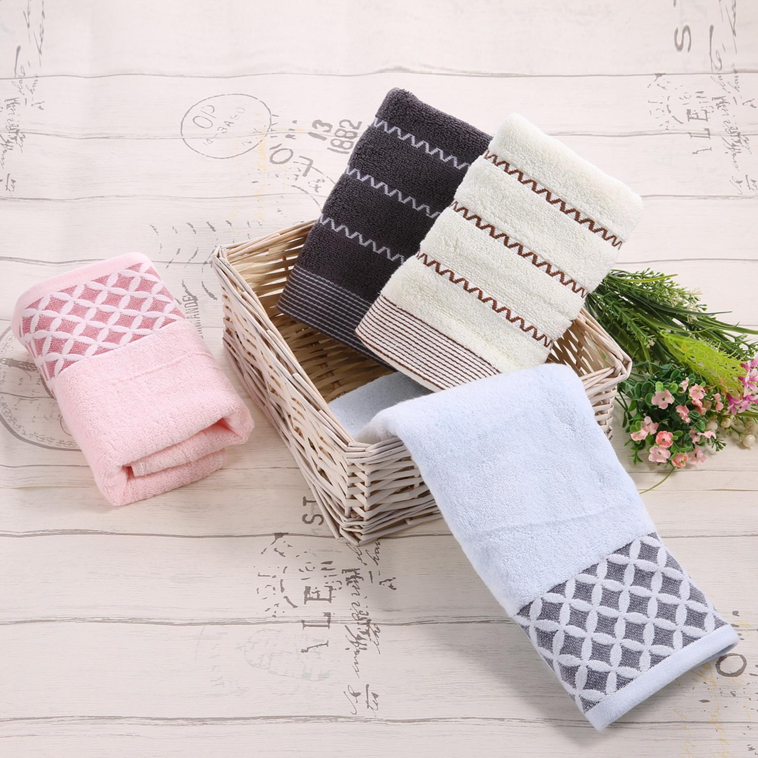 6PCS Cotton Bath Towel Face Shower Towels Set Striped