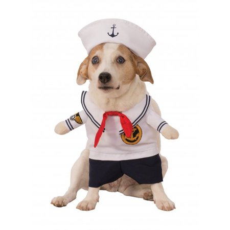 Walking Sailor Navy Uniform Pet Dog Cat Halloween Costume (Dog Football Costumes Halloween)