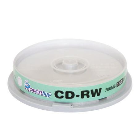 10 Pack Smartbuy CD-RW 1-12X 700MB/80Min High Speed Logo Rewritable Blank Data Media (10 Speed Pack)