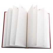 "SD381-75 At-A-Glance Standard Daily Diary - Daily - 8.19"" x 13.44"" - 1 Year - January till December - 1 Day Single Page Layout - Vinyl - Red, White"