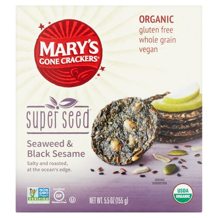 Marys Gone Crackers Cracker Swd & Bk Ssme Org,5.5 Oz (Pack Of