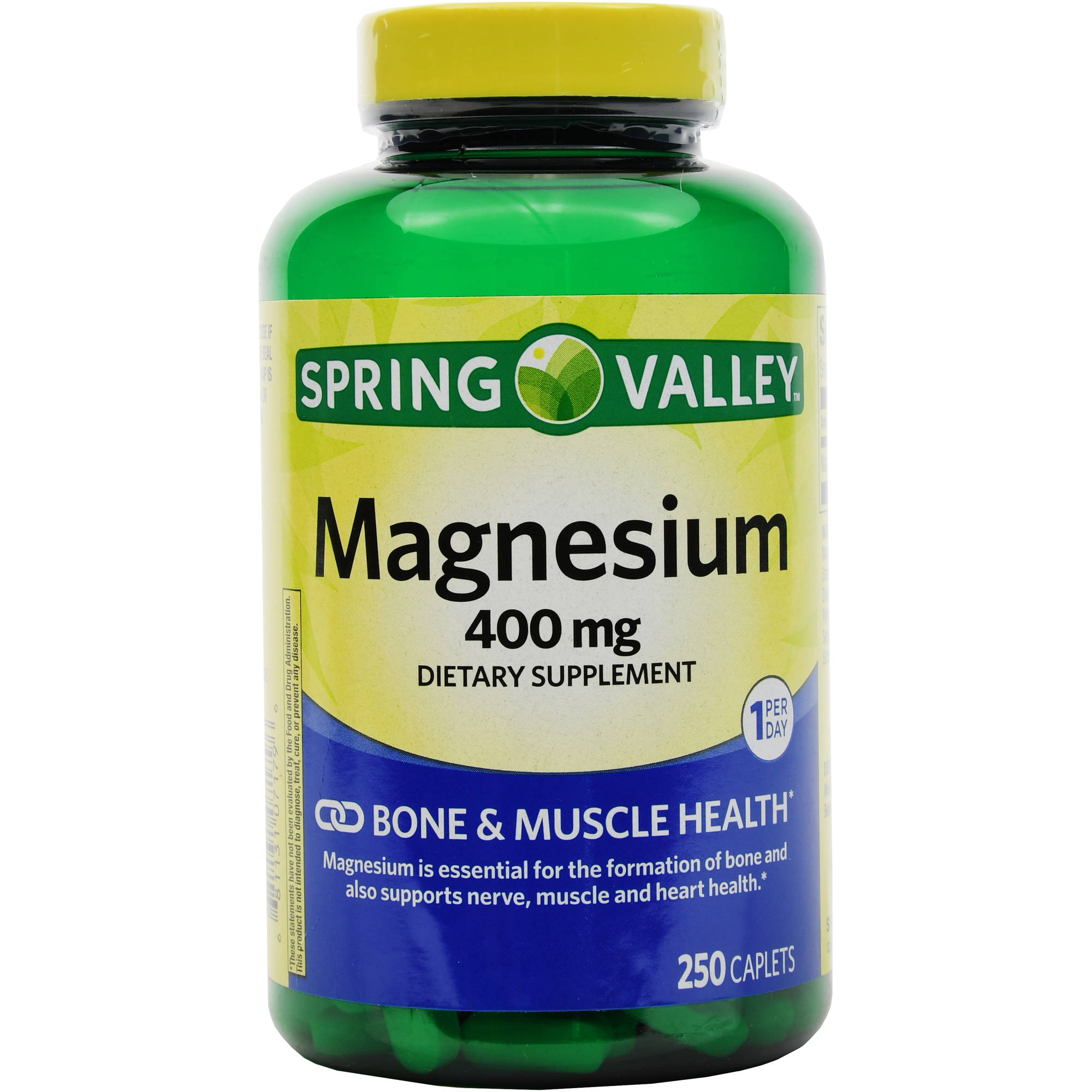 Spring Valley Magnesium Dietary Supplement Tablets, 400mg, 250 count