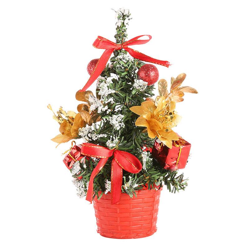Miniature Artificial Christmas Trees: JLONG 1Pcs Mini Artificial Christmas Tree Home Holiday