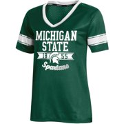 Women's Russell Athletic Green Michigan State Spartans Fashion Jersey V-Neck T-Shirt