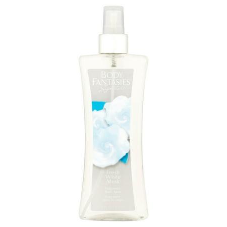 Body Fantasies Signature Fresh White Musk Fragrance Body Spray, 8 fl oz