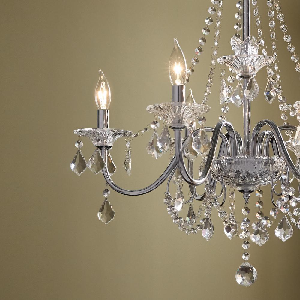 Home Decorators Collection 6 Light Chrome Crystal Chandelier Return Com