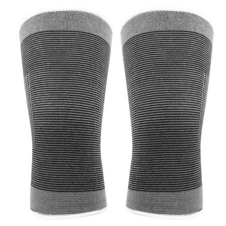 TOPINCN Le coton a tricoté les genouillères sportives chaudes élastiques de basket-ball de football de volley-ball en cours d'exécution de soutien de genoux, enveloppe de genou, appui de genou - image 3 de 8