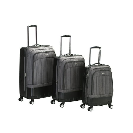 Rockland Luggage 3 Piece Milan Hybrid Softside/Hardside Luggage Set F136