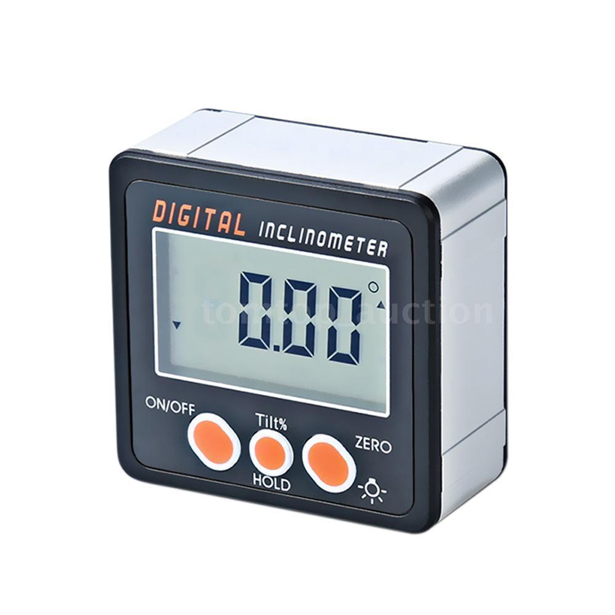 0-360° Level Box Gauge Digital LCD Protractor Magnetic Angle Finder Inclinometer