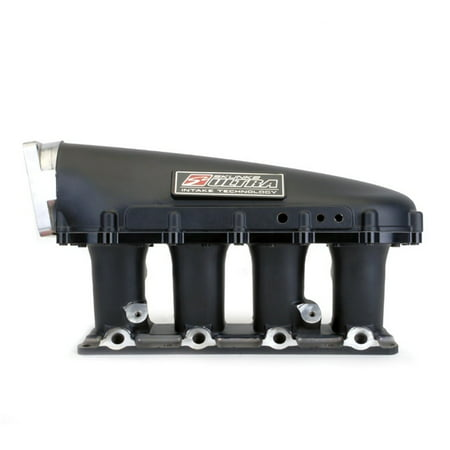 Skunk2 Racing 307-05-8055 Ultra Series Race Intake Manifold; 3.5L Volume; 90mm Inlet w/Early 5.0 Ford TB Bolt Pattern; 4 Secondary Injector Bosses; K20A2 Style; All Black; (Early Inlet)