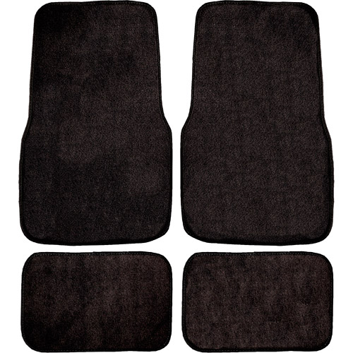 Remington Industries 4pc Basic Carpet, Black
