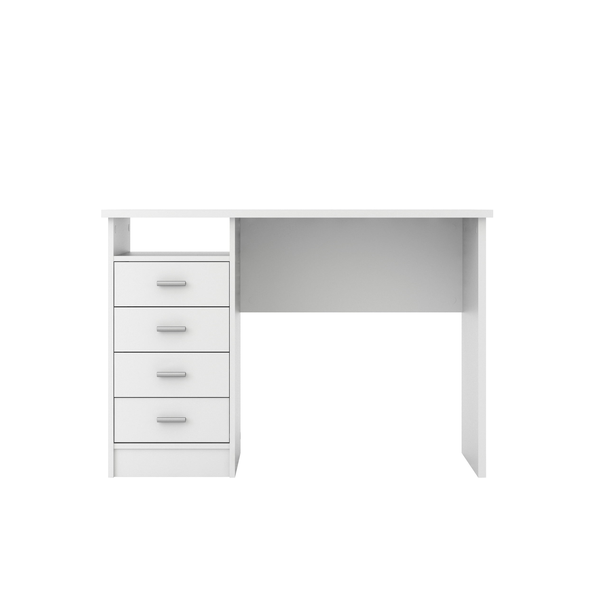 Tvilum Warner Computer Desk with Drawers, White Finish - Walmart.com