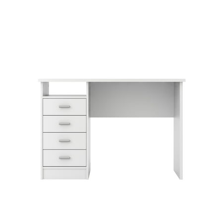 Tvilum Warner Computer Desk with Drawers, White Finish ()