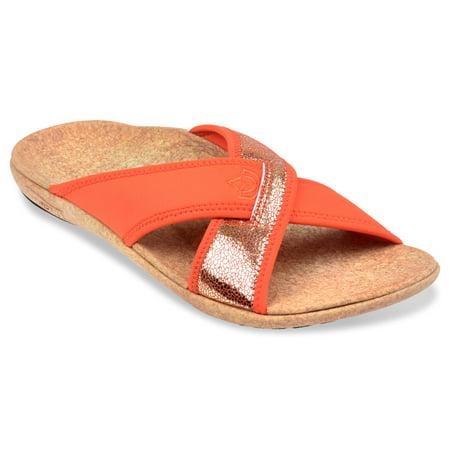 96761c556022 Spenco Lingo Slide - Women s Orthotic Support Sandal - Flame