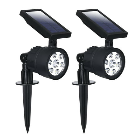 Westinghouse Solar Powered Garden Spotlight - with Color Changing features perfect for Holiday Decoration - Spot Light for Landscaping, Walkways or Security (2 Pack, White & Color Select) ()