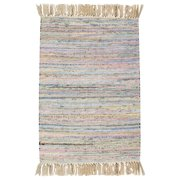 CLM Bombay Hand Woven Cotton Pink/Blue Area Rug