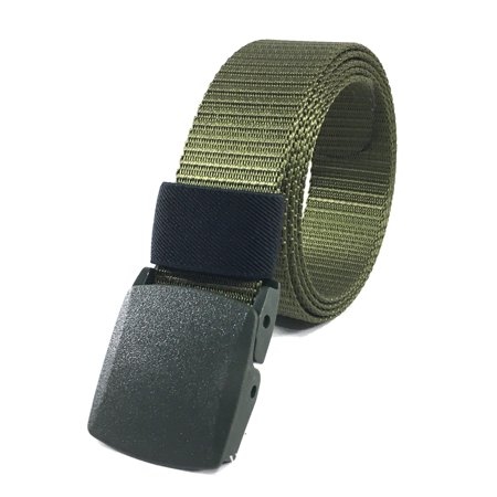125CM Automatic Buckle Nylon Belt Male Army Tactical Belt Mens Military  Waist Canvas Belts Survival Cummerbunds Strap Army green