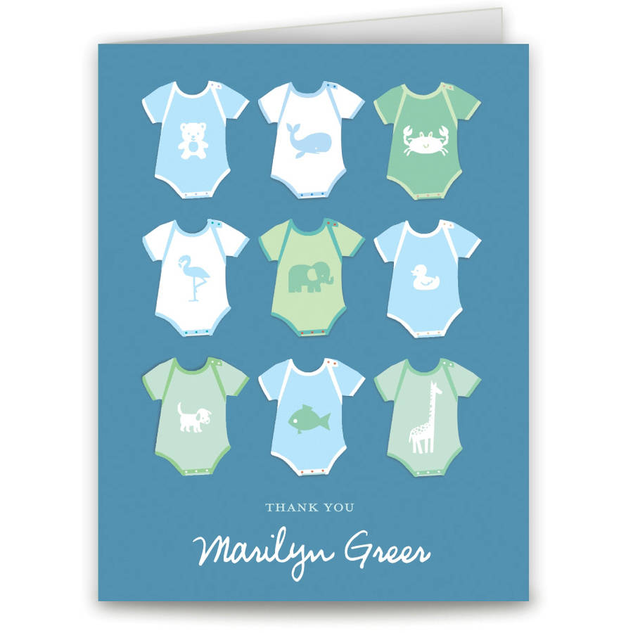 Onesies Baby Thank You Card