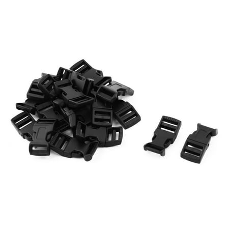 Release Buckle - Backpack Plastic Replacement Strap Adjustive Quick Release Buckle Black 20 Pcs