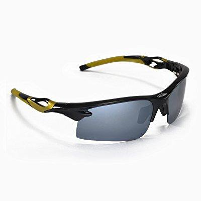 Walleva Polarized Sports Sunglasses For Fishing/Biking/Hiking/Golf/Ski - Multiple Options Available (Titanium Mirror Coated - (Titanium Sunglasses Men)