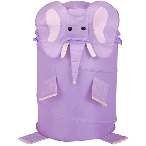 Honey Can Do Large Collapsible Kids Pop-Up Hamper, Elephant