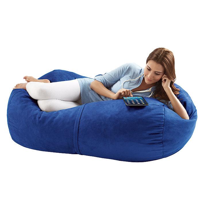 Jaxx Sofa Saxx 4-foot Bean Bag Lounger, Blueberry Microsuede