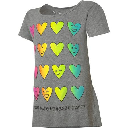 Girls Printed Short Sleeve Ruffle Shirttail T-shirt (Girls In Nities)