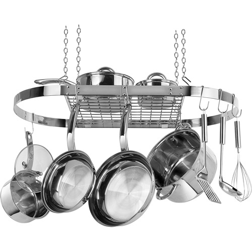 Range Kleen Stainless Steel Oval Hanging Pot Rack