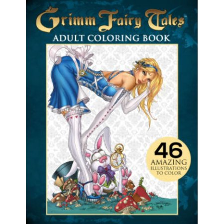 Grimm Fairy Tales Adult Coloring Book (Paperback) - Adult Furries