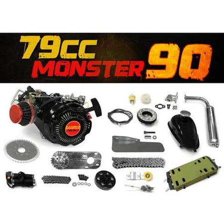 78.5cc Monster 90 Bike 4 Stroke Engine Kit
