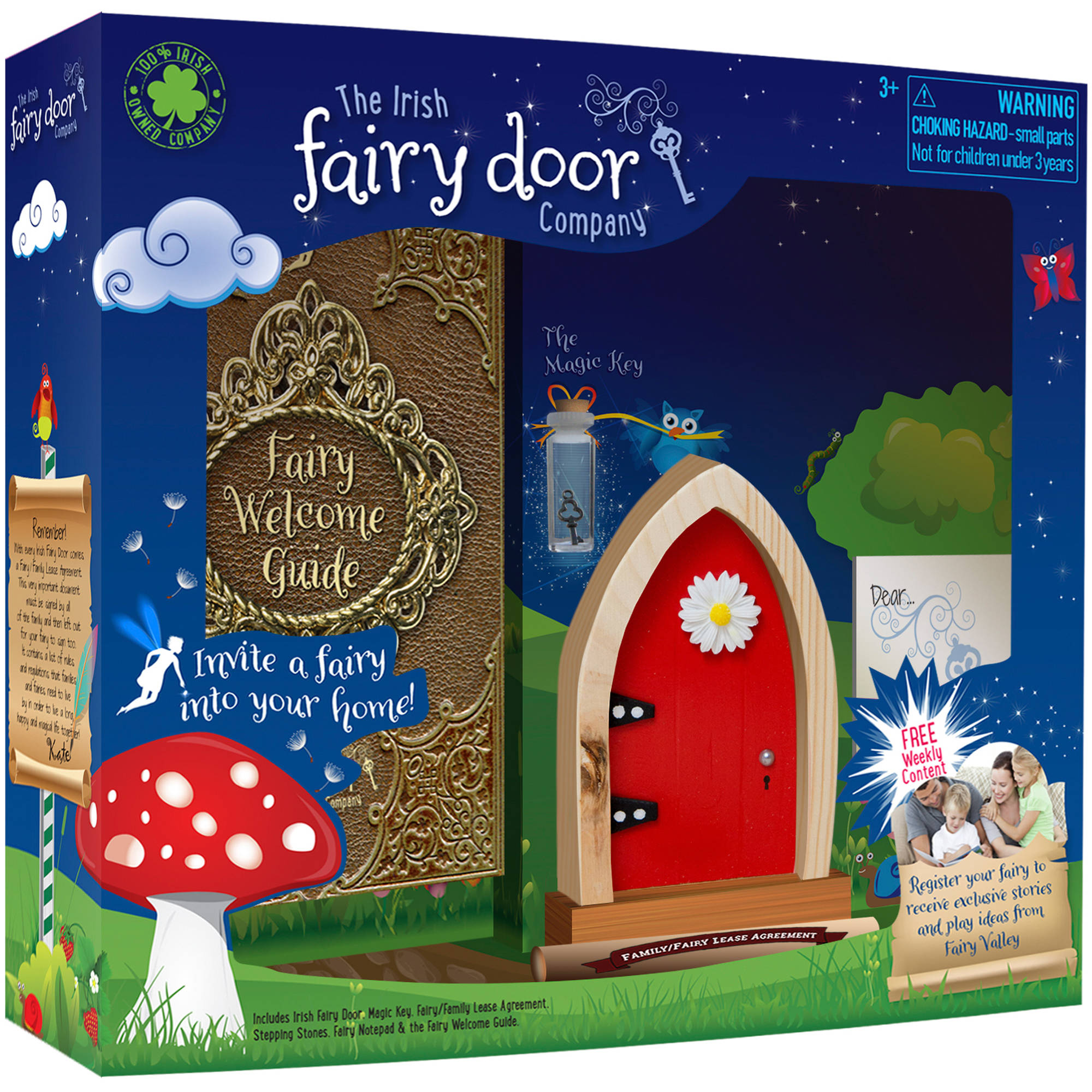 License 2 Play Irish Fairy Door, Red Arch by License 2 Play