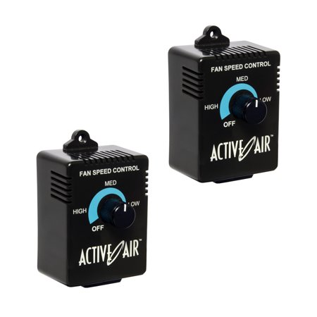 Hydrofarm ACSC Active Air Inline Duct Fan Speed Adjuster Controller 350W, 2 Pack Fan Controller Program