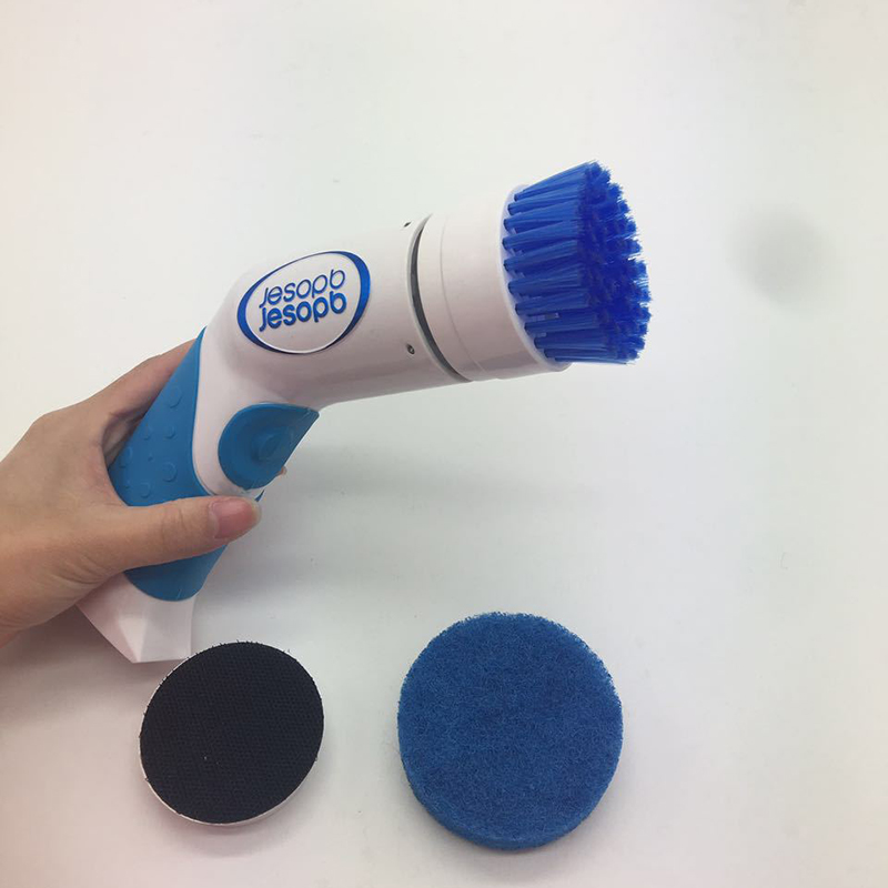 Electric Bathroom Bathtub Brush Nylon - Power Scrubber Cleaning Brush for Kitchen Shower Bathtub Bidet Sofa floor, 3 Detachable Brush Heads
