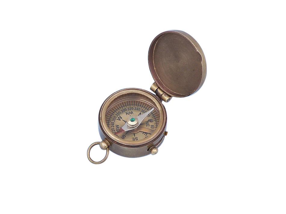 "Antique Brass Magellan Compass 2"" Nautical Compass Marine Compass by Handcrafted Nautical Decor"
