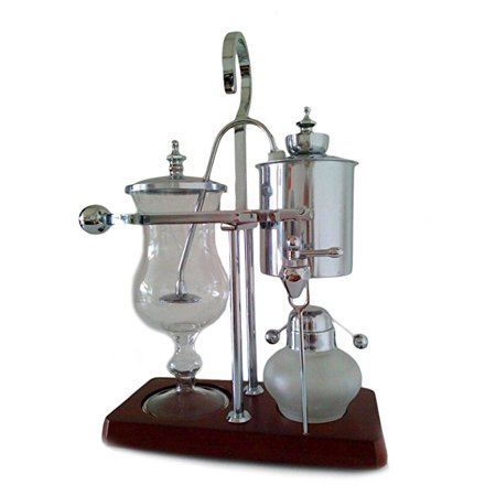 NISPIRA Belgian Belgium Luxury Royal Family Balance Syphon Siphon Coffee Maker Silver Color