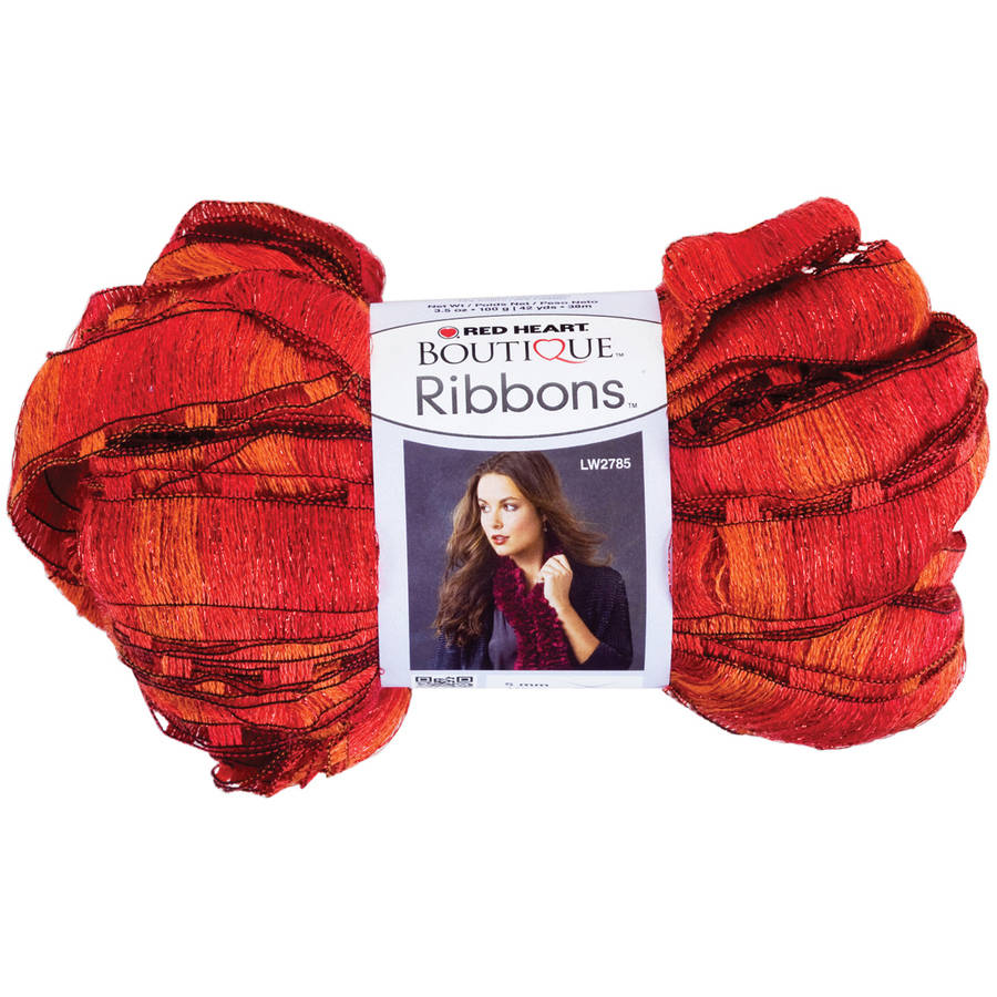 Red Heart Boutique Ribbons Yarn, Available in Multiple Colors