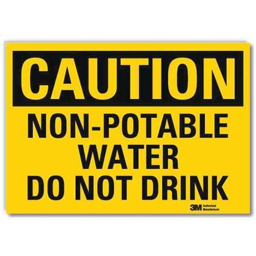 LYLE U4-1560-RD_10X7 Safety Sign,Non-Potable Water,10 in. W G1812861
